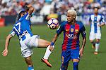 FC Barcelona's Neymar Santos Jr Club Deportivo Leganes's Victor Diaz during the match of La Liga between Club Deportivo Leganes and Futbol Club Barcelona at Butarque Estadium in Leganes. September 17, 2016. (ALTERPHOTOS/Rodrigo Jimenez)