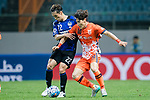 Gamba Osaka Defender Oh Jaesuk (L) fights for the ball with Jeju United Midfielder Lee Changmin (R) during the AFC Champions League 2017 Group H match Between Jeju United FC (KOR) vs Gamba Osaka (JPN) at the Jeju World Cup Stadium on 09 May 2017 in Jeju, South Korea. Photo by Marcio Rodrigo Machado / Power Sport Images