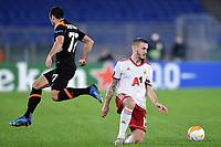 Henrikh Mkhitaryan of AS Roma and Thibaut Vion of PFS CSKA-Sofia compete for the ball during the Europa League Group Stage A football match between AS Roma and CSKA Sofia at stadio olimpico in Roma (Italy), October, 29th, 2020. Photo Andrea Staccioli / Insidefoto