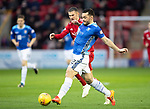 Aberdeen v St Johnstone…08.12.18…   Pittodrie    SPFL<br />Tony Watt and Dom Ball<br />Picture by Graeme Hart. <br />Copyright Perthshire Picture Agency<br />Tel: 01738 623350  Mobile: 07990 594431