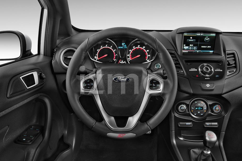 Car pictures of steering wheel view of a 2015 Ford Fiesta St MT 2Wd 5 Door Hatchback 2WD Steering Wheel