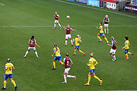 Cho So-hyun of West Ham heads the ball during West Ham United Women vs Brighton & Hove Albion Women, Barclays FA Women's Super League Football at the Chigwell Construction Stadium on 15th November 2020