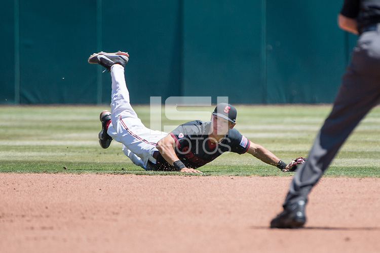 STANFORD, CA - MAY 29: Adam Crampton during a game between Oregon State University and Stanford Baseball at Sunken Diamond on May 29, 2021 in Stanford, California.
