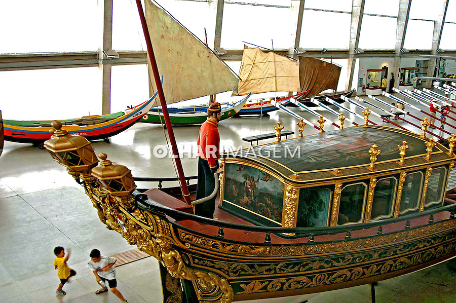 Bergantim Real de Dona Maria I, Museu da Marinha em Lisboa. Portugal. 2005. Foto de Rogério Reis.