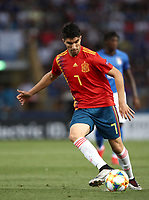 Football: Uefa under 21Championship 2019, Italy - Spain Renato Dall'Ara stadium Bologna Italy on June16, 2019.<br /> Spain's Carlos Soler in action during the Uefa European under 21Championship 2019football match between Italy and Spain at Renato Dall'Ara stadium in Bologna, Italy on June16, 2019.<br /> UPDATE IMAGES PRESS/Isabella Bonotto
