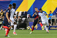 Harrison, NJ - Friday July 07, 2017: David Guzmán, Romell Quioto during a 2017 CONCACAF Gold Cup Group A match between the men's national teams of Honduras (HON) vs Costa Rica (CRC) at Red Bull Arena.