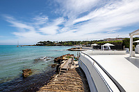 BNPS.co.uk (01202 558833)<br /> Pic: CapVillas/BNPS<br /> <br /> Balcony view<br />  <br /> A glamorous villa that has hosted a string of celebrities including Winston Churchill, Pablo Picasso, the Duke of Windsor and Edith Piaf is on the market for £9m (10.5m euros).<br /> <br /> The exquisite Villa La Garoupe Beach sits on a natural sand beach and has its own private beach on one of the French Riviera's most exclusive spots.<br /> <br /> It was once a renowned beach club and the list of names connected to the property are endless. French singer Edith Piaf hosted her engagement party to Theo Sarapo there and it was also visited by former US President Harry Truman, writer Ernest Hemingway, Bond actor Sean Connery and movie star Marlene Dietrich.<br /> <br /> The property in Cap d'Antibes has four bedrooms suitable for six to eight people, three bathrooms and a living area overlooking the sea.