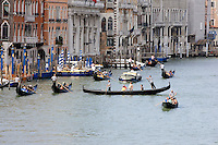 Gondole sul Canal Grande a Venezia.<br /> Gondolas on the Grand Canal, in Venice.<br /> UPDATE IMAGES PRESS/Riccardo De Luca