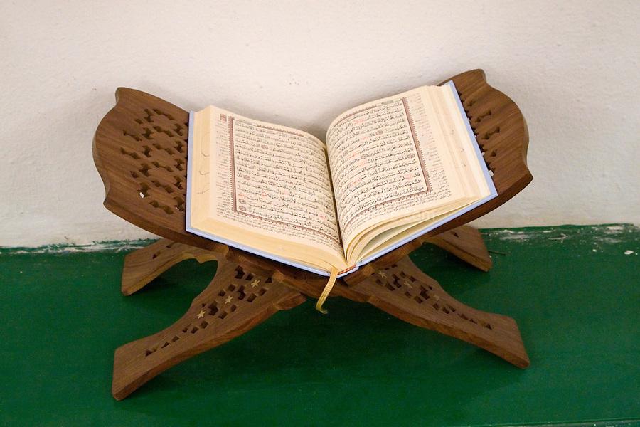 Tripoli, Libya. Holy Koran, An-Nagah Mosque, Tripoli's first mosque, rebuilt 17th Century.