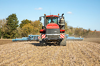Cultivating ahead of spring drilling - Suffolk, April