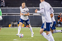SAN JOSE, CA - MAY 01: Frederic Brillant #13 of DC United looks up to pass the ball during a game between San Jose Earthquakes and D.C. United at PayPal Park on May 01, 2021 in San Jose, California.