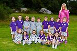 Liabh Toibín with her Junior Infants on their first day of school in Gaelscoil Faithleann Killarney on Wednesday (names to follow)