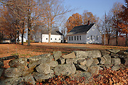 Smith Meetinghouse School and Smith Meetinghouse during the autumn months. Located in Gilmanton,  New Hampshire USA....