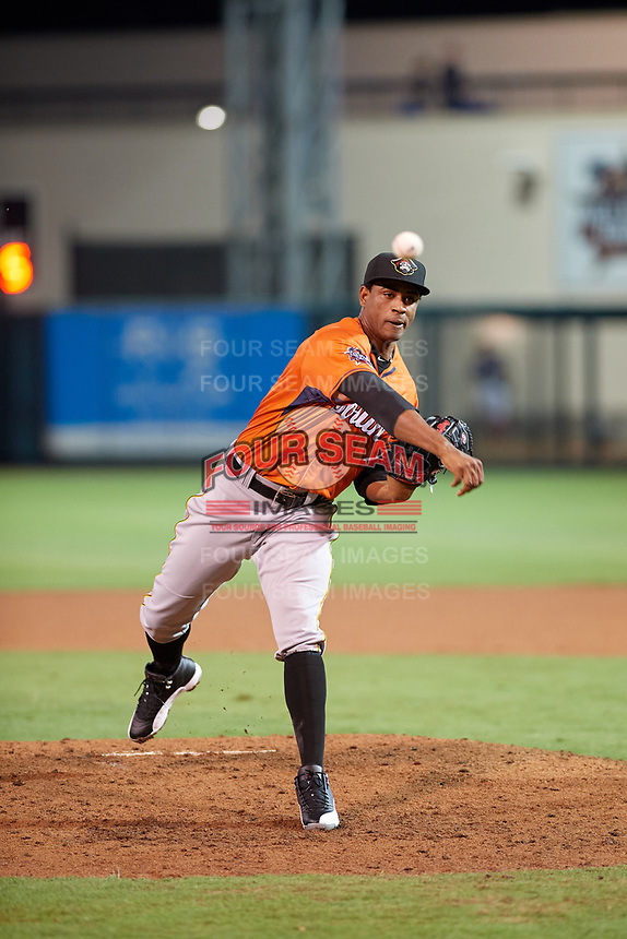 Bradenton Marauders pitcher Yunior Montero (27) during the Florida State League All-Star Game on June 17, 2017 at Joker Marchant Stadium in Lakeland, Florida.  FSL North All-Stars defeated the FSL South All-Stars  5-2.  (Mike Janes/Four Seam Images)