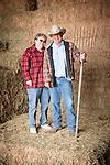 Marlene and Gary Joses int the Guttenger Barn, San Andreas, Calif.