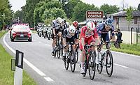 breakaway group leaving (the village of) Corona behind<br /> <br /> 104th Giro d'Italia 2021 (2.UWT)<br /> Stage 15 from Grado to Gorizia (147km)<br /> <br /> ©kramon