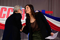 Philadelphia, PA - Saturday January 20, 2018: JP Dellacamera, Hope Solo during the U.S. Soccer Federation Presidential Election Candidates Forum hosted by US Youth Soccer at the Philadelphia Marriott Downtown Grand Ballroom.