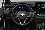 Car pictures of steering wheel view of a 2019 Toyota Corolla Touring Sports Dynamic 5 Door Wagon
