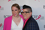 """(L-R) Actors Emma Myles and Lea DeLaria attend The Breast Cancer Research Foundation """"Super Nova"""" Hot Pink Party on May 12, 2017 at the Park Avenue Armory in New York City."""