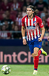 Filipe Luis of Atletico de Madrid in action during their International Champions Cup Europe 2018 match between Atletico de Madrid and FC Internazionale at Wanda Metropolitano on 11 August 2018, in Madrid, Spain. Photo by Diego Souto / Power Sport Images