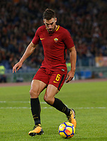 Roma's Roma's Kevin Strootman in action during the Serie A football match between Roma and Bologna at Rome's Olympic stadium, October 28, 2017.<br /> UPDATE IMAGES PRESS/Riccardo De Luca