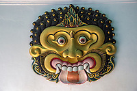 Yogyakarta, Java, Indonesia.  Kala, God of the Underworld and Symbol of Time.  Kala is a Hindu-Buddhist Javanese-Balinese Deity whose fierce face scares away malevolent spirits, thus serving as a guardian of the temple or, in this case, the sultan's palace.