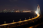 .MUMBAI, INDIA - SEPTEMBER 27, 2010: Mumbai's new Worli Sea Link viewed from The Chambers at Taj LANDS END Hotel, Bandra, Mumbai.The Taj Mahal Palace and Tower Hotel in Mumbai has re-opened after the terror attacks of 2008 destroyed much of the heritage wing. The wing has been renovated and the hotel is once again the shining jewel of Mumbai. pic Graham Crouch