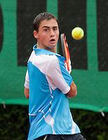 12-8-09, Den Bosch,Nationale Tennis Kampioenschappen, 1e ronde,    Evthimios Karaliolios