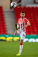 31st October 2020; Bet365 Stadium, Stoke, Staffordshire, England; English Football League Championship Football, Stoke City versus Rotherham United; Tommy Smith of Stoke City kicks the ball