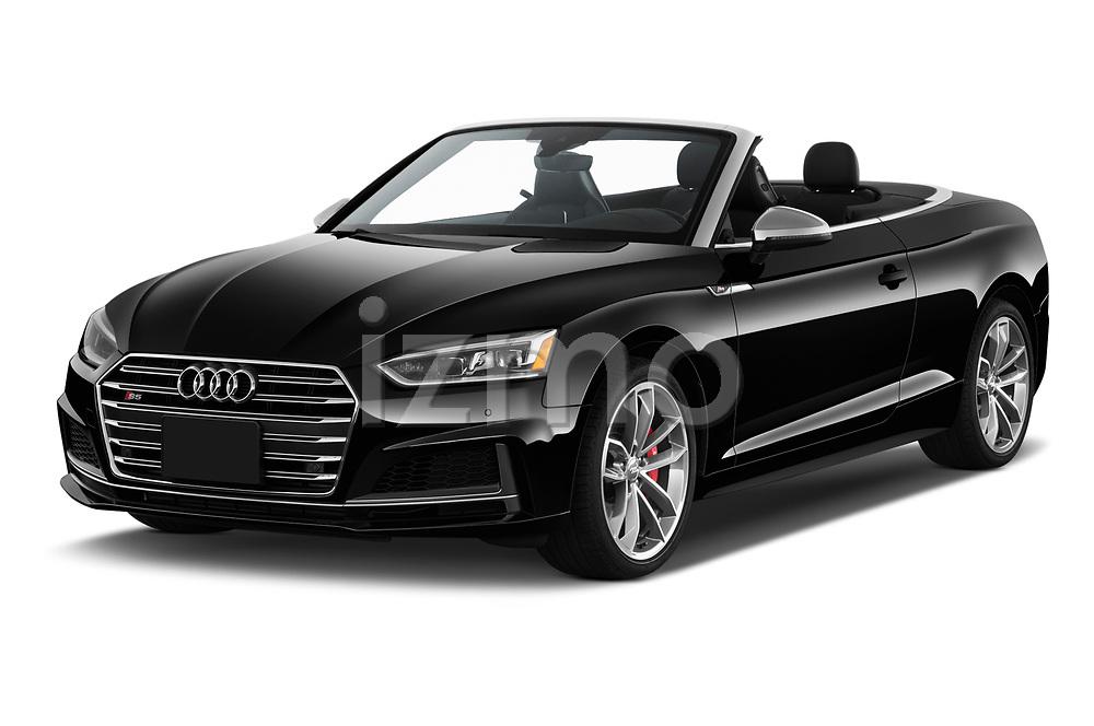 2018 Audi S5 Prestige 4wd 2 Door Convertible angular front stock photos of front three quarter view