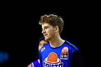 Isaac Miller-Jose of the Wellington Saints warms up before the NBL match between the Wellington Saints and the Auckland Huskies at TSB Bank Arena, Wellington, New Zealand on Friday 28 May 2021.<br /> Photo by Masanori Udagawa. <br /> www.photowellington.photoshelter.com