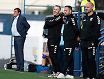 Montrose v St Johnstone….16.07.19      Links Park     Betfred Cup       <br />Montrose manager Stewart Petrie all smiles<br />Picture by Graeme Hart. <br />Copyright Perthshire Picture Agency<br />Tel: 01738 623350  Mobile: 07990 594431