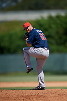 Atlanta Braves pitcher Cutter Dyals (83) delivers a pitch during a Florida Instructional League game against the Philadelphia Phillies on October 5, 2018 at the Carpenter Complex in Clearwater, Florida.  (Mike Janes/Four Seam Images)