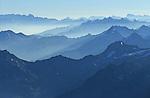 Vue sur le massif du Valais depuis le refuge Bordier