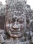 Face of Lokeshvara, Bayon, Angkor Wat, Cambodia