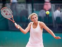 25-5-08, France,Paris, Tennis, Roland Garros, Michaella Krajicek in uiterste consentratie in heer trainingspartij
