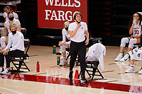 STANFORD, CA - FEBRUARY 19: Tara VanDerveer head coach of the Stanford Cardinal calls out to her players during a game between Arizona State University and Stanford University at Maples Pavilion on February 19, 2021 in Stanford, California.