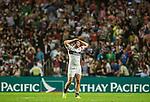 United States vs Samoa during the Cathay Pacific / HSBC Hong Kong Sevens at the Hong Kong Stadium on 28 March 2014 in Hong Kong, China. Photo by Xaume Olleros / Power Sport Images