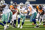 Dallas Cowboys quarterback Brandon Weeden (3) in action during the pre-season game between the Denver Broncos and the Dallas Cowboys at the AT & T stadium in Arlington, Texas. Denver leads Dallas 10 to 3 at halftime.