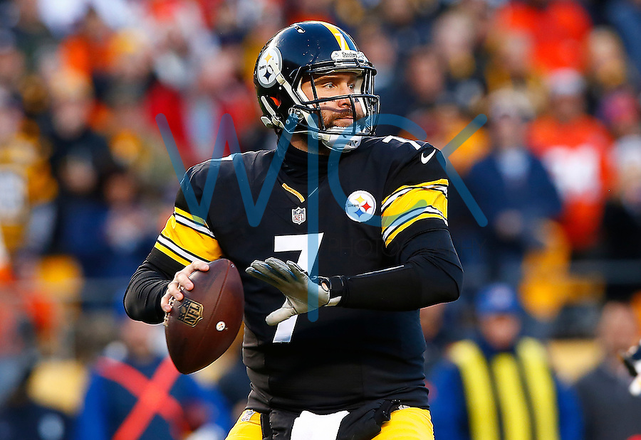 Ben Roethlisberger #7 of the Pittsburgh Steelers in action against the Denver Broncos during the game at Heinz Field on December 20, 2015 in Pittsburgh, Pennsylvania. (Photo by Jared Wickerham/DKPittsburghSports)