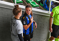 Ellen Martens (2) of Club Brugge pictured during a female soccer game between Club Brugge Dames YLA and KRC Genk on the fifth matchday of the 2021 - 2022 season of Belgian Scooore Womens Super League , saturday 2 october 2021 in Aalter , Belgium . PHOTO SPORTPIX   DAVID CATRY