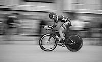 a speeding Martin Köhler (SUI)<br /> <br /> 3 Days of West-Flanders 2014<br /> day 1: TT/prologue Middelkerke 7,0 km