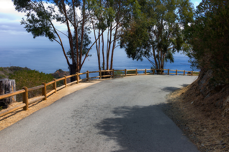 Road around Catalina Island, California