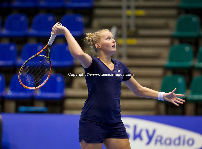 Rotterdam,Netherlands, December 15, 2015,  Topsport Centrum, Lotto NK Tennis,  Kelly Versteeg (NED)<br /> Photo: Tennisimages/Henk Koster