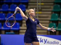 Rotterdam,Netherlands, December 15, 2015,  Topsport Centrum, Lotto NK Tennis,  Kelly Versteeg (NED)<br /> Photo: Tennisimages/Henk Koster
