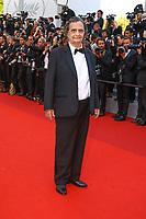 Jean-Pierre Leaud sur le tapis rouge pour la soirée dans le cadre de la journée anniversaire de la 70e édition du Festival du Film à Cannes, Palais des Festivals et des Congres, Cannes, Sud de la France, mardi 23 mai 2017.