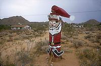 Santa Claus totem pole<br />