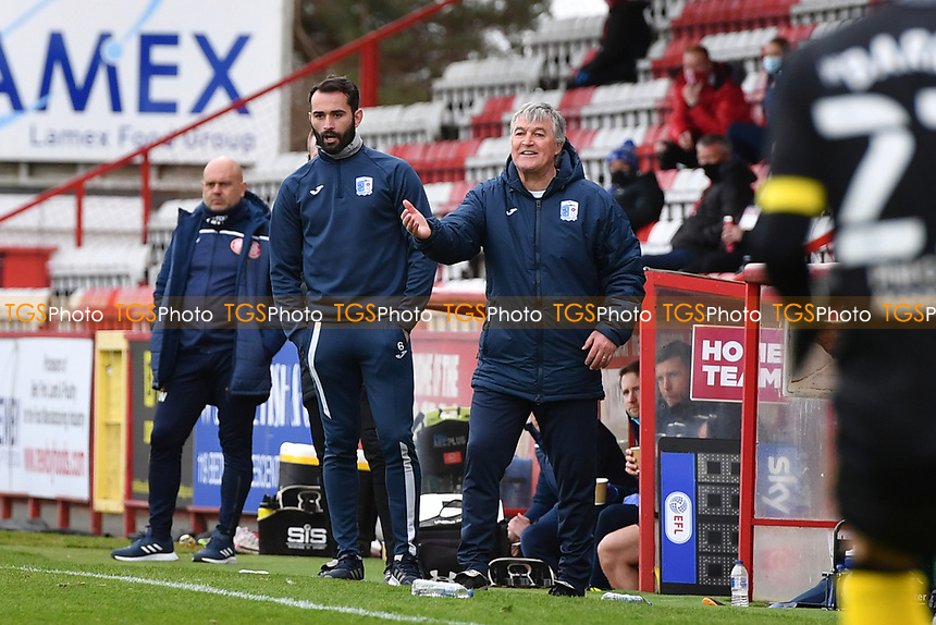 Barrow AFC Manager Rob Kelly during Stevenage vs Barrow, Sky Bet EFL League 2 Football at the Lamex Stadium on 27th March 2021