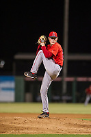 AZL Angels relief pitcher John Swanda (62) delivers a pitch to the plate against the AZL White Sox on August 14, 2017 at Diablo Stadium in Tempe, Arizona. AZL Angels defeated the AZL White Sox 3-2. (Zachary Lucy/Four Seam Images)