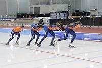 SPEEDSKATING: 13-02-2020, Utah Olympic Oval, ISU World Single Distances Speed Skating Championship, Training, Ireen Wüst, Femke Kok, Letitia de Jong, Jutta Leerdam, Team NED, ©Martin de Jong